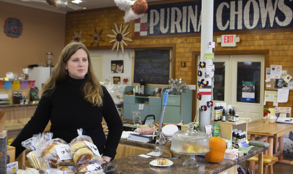 Market Street Co-op manager Stacey Martin speaks at her shop in Fort Kent, Oct. 31, 2014. | Photo: BDN